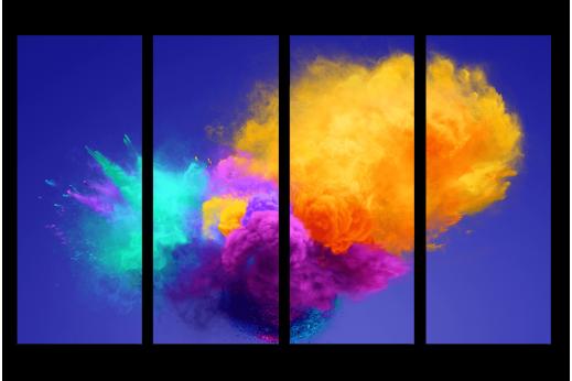 Модульная картина Красочный взрыв