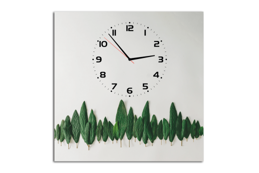 Картина-часы Листья